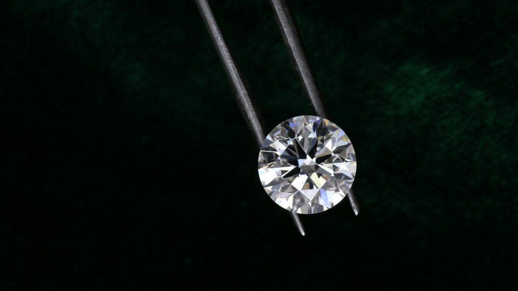 a round-cut diamond